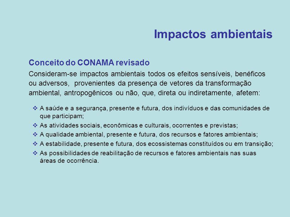 Impactos ambientais Conceito do CONAMA revisado