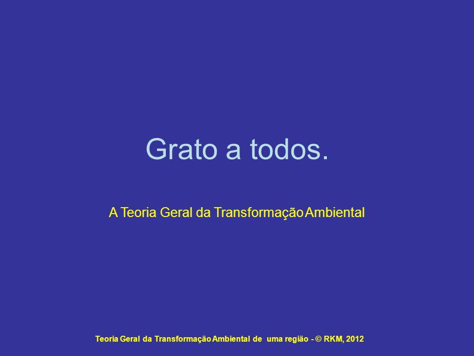 Teoria Geral da Transformação Ambiental de uma região - © RKM, 2012