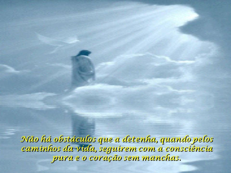 Não há obstáculos que a detenha, quando pelos caminhos da vida, seguirem com a consciência pura e o coração sem manchas.