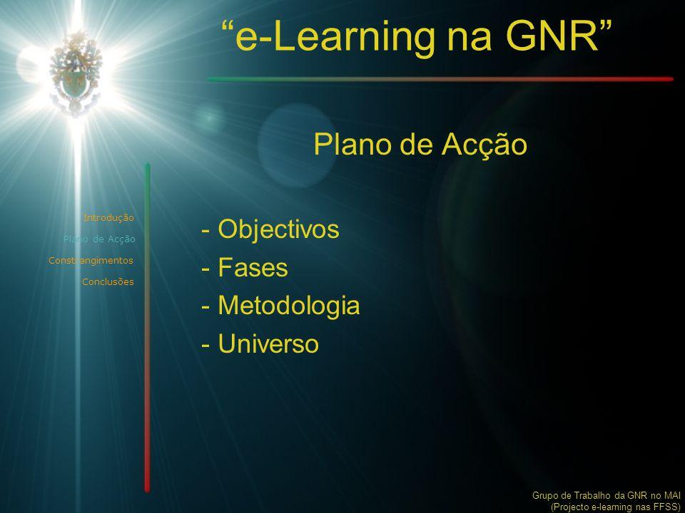 Plano de Acção Objectivos Fases Metodologia Universo