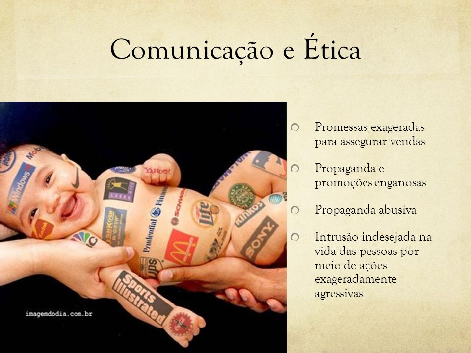 Comunicação e Ética Promessas exageradas para assegurar vendas