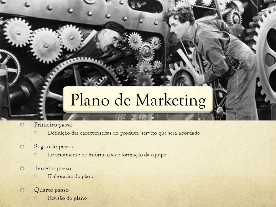 Plano de Marketing Primeiro passo Segundo passo Terceiro passo