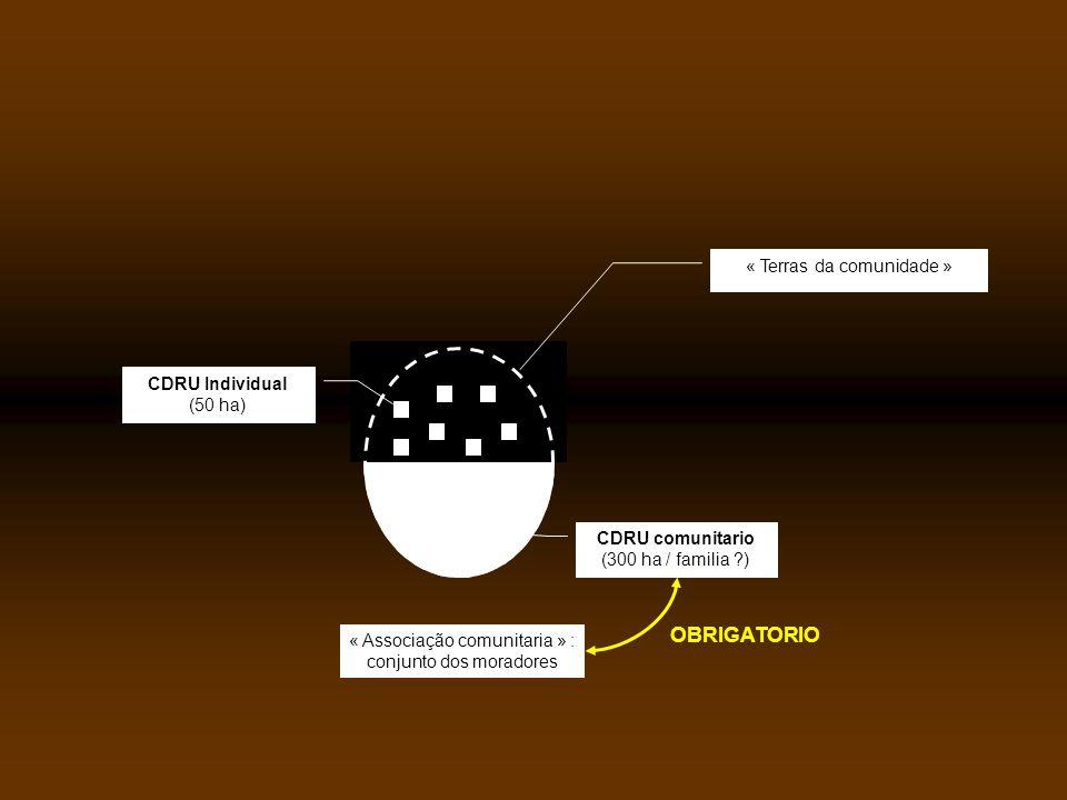 OBRIGATORIO « Terras da comunidade » CDRU Individual (50 ha)