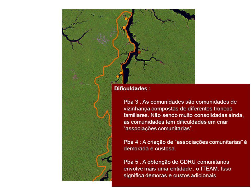 Dificuldades : Pba 3 : As comunidades são comunidades de. vizinhança compostas de diferentes troncos.