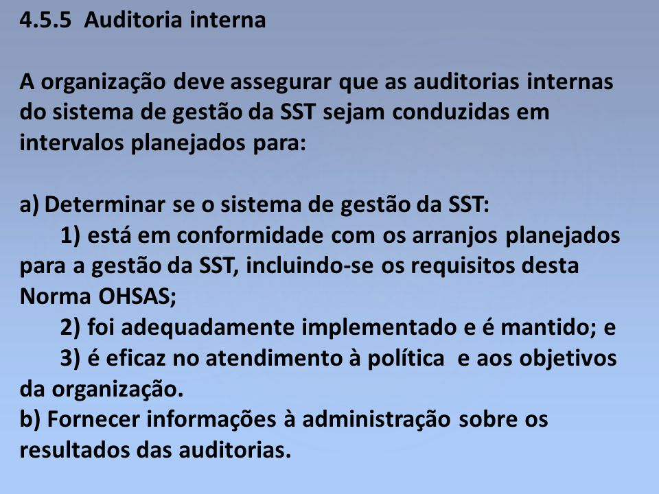4.5.5 Auditoria interna