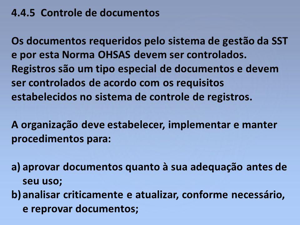 4.4.5 Controle de documentos