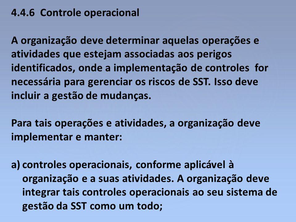 4.4.6 Controle operacional