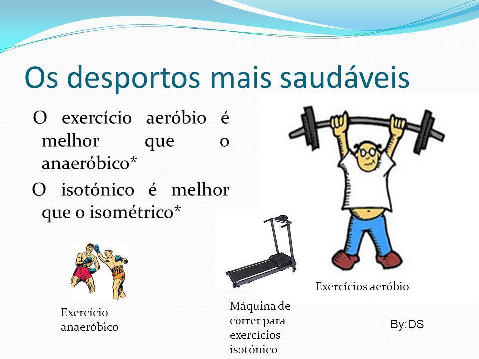 Os desportos mais saudáveis