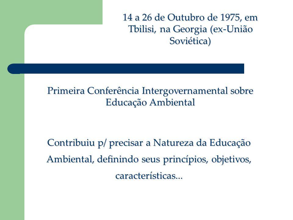 Primeira Conferência Intergovernamental sobre Educação Ambiental