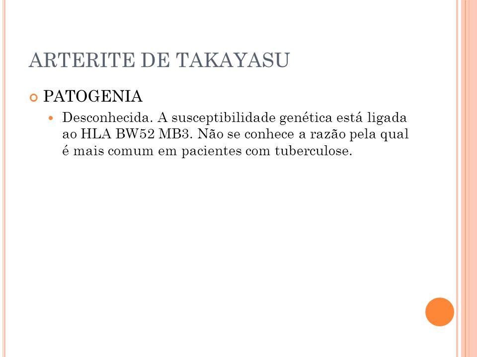 ARTERITE DE TAKAYASU PATOGENIA