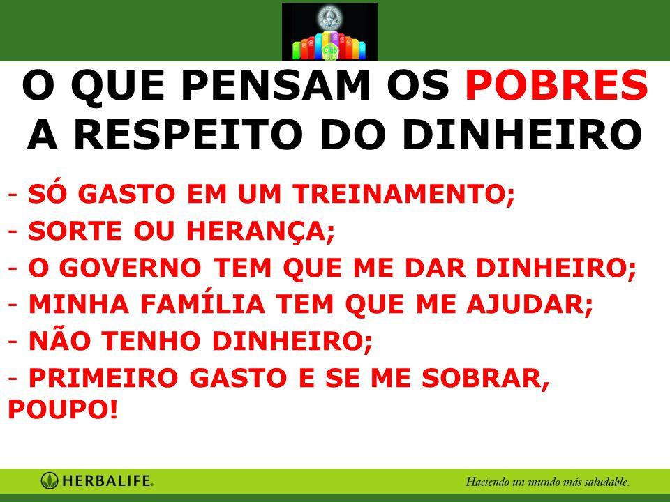 O QUE PENSAM OS POBRES A RESPEITO DO DINHEIRO