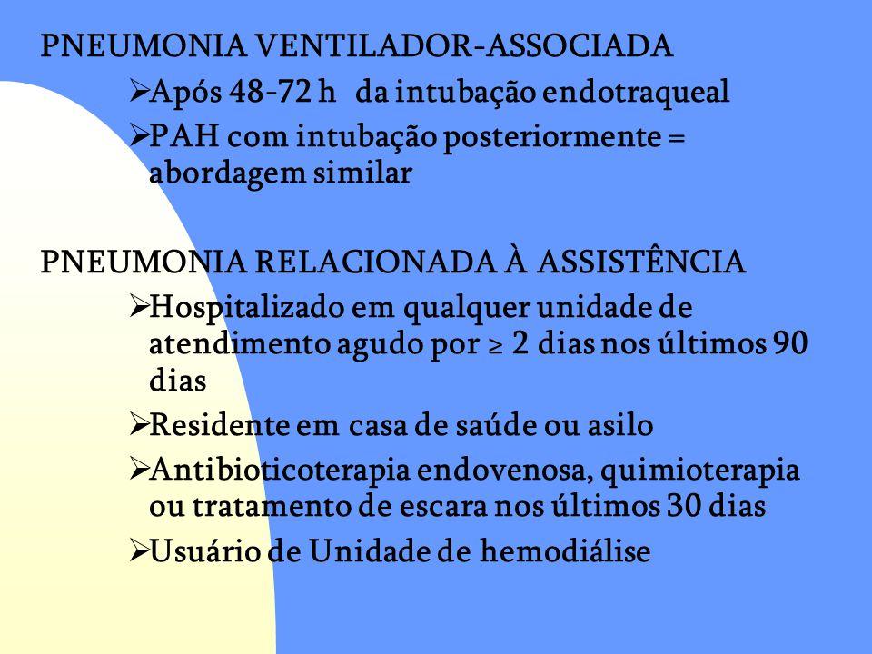 PNEUMONIA VENTILADOR-ASSOCIADA