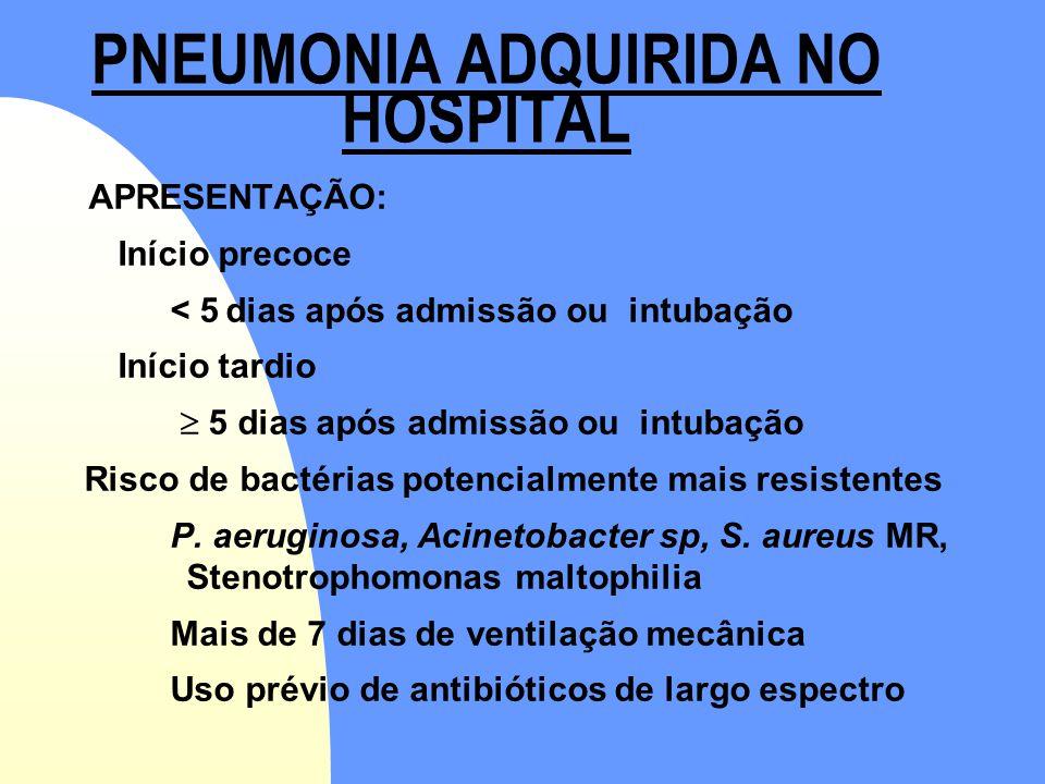 PNEUMONIA ADQUIRIDA NO HOSPITAL