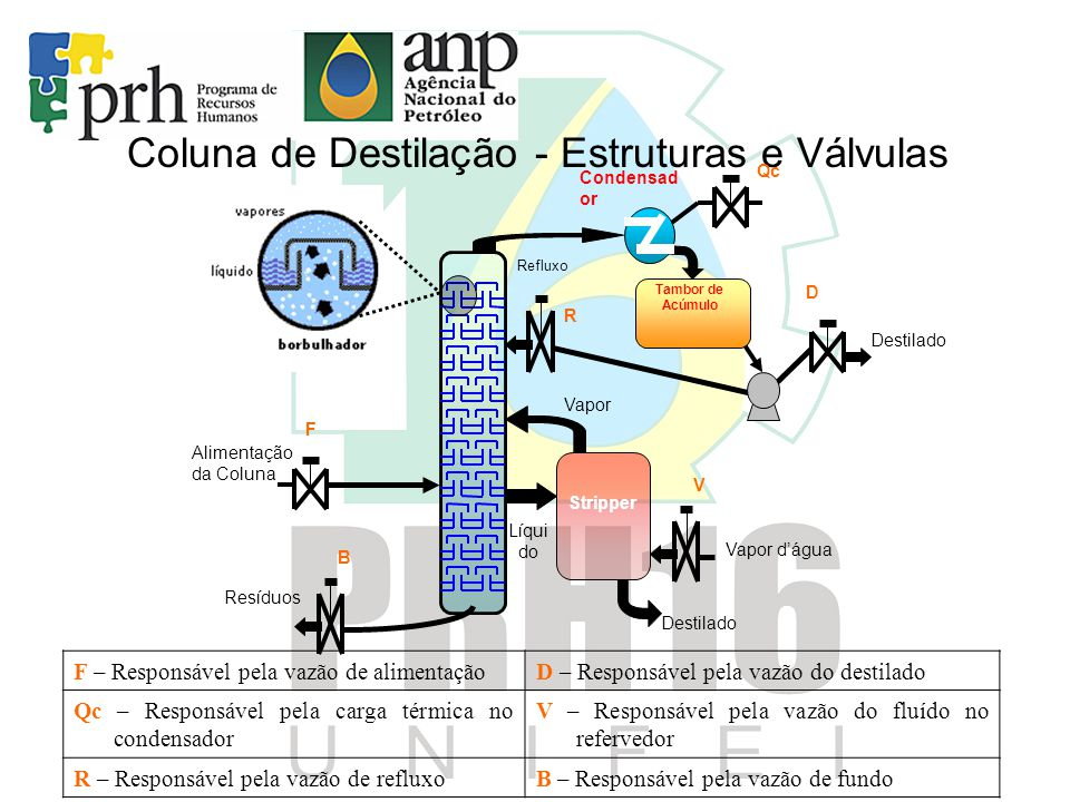 Coluna de Destilação - Estruturas e Válvulas