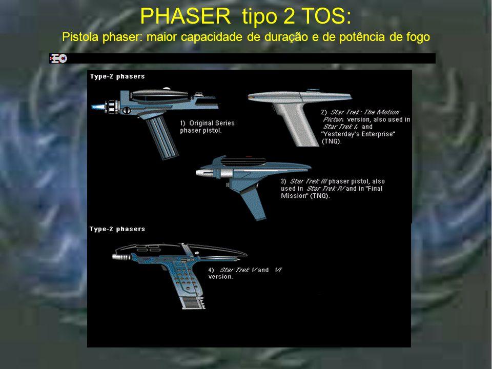 Pistola phaser: maior capacidade de duração e de potência de fogo