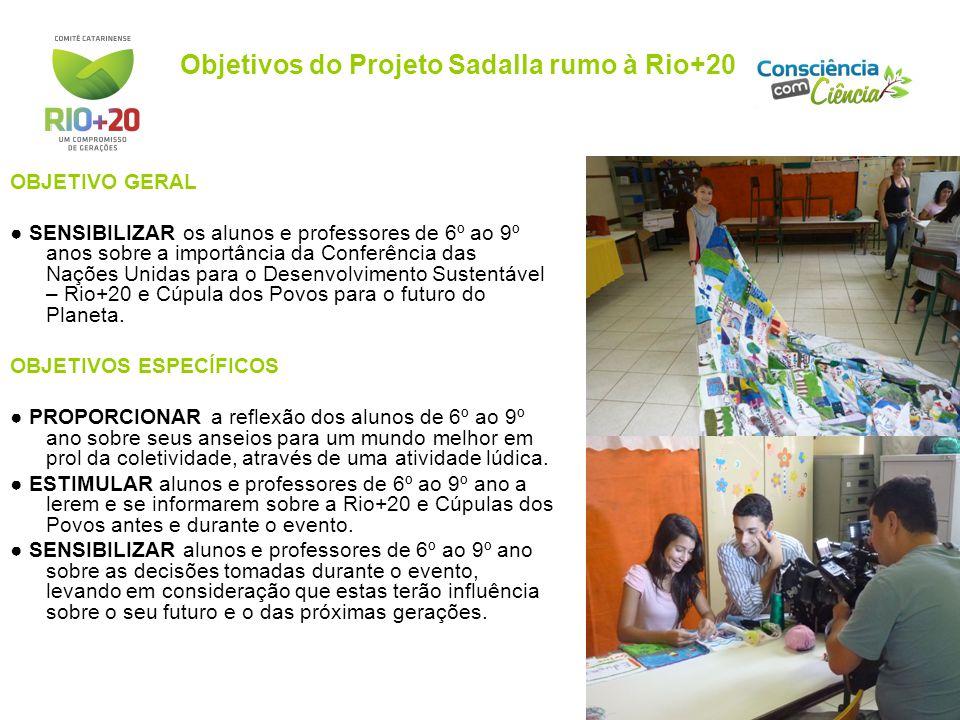Objetivos do Projeto Sadalla rumo à Rio+20