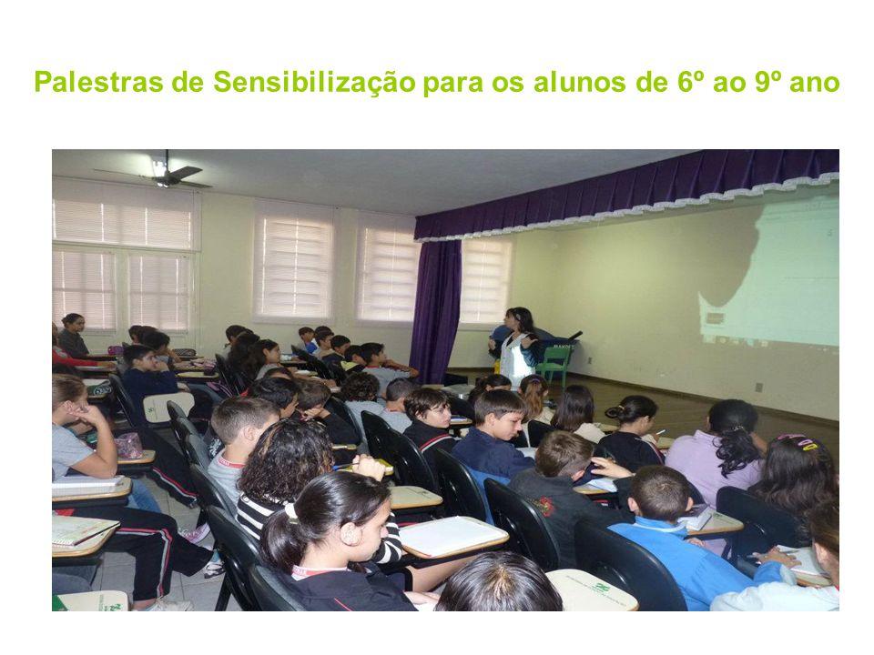 Palestras de Sensibilização para os alunos de 6º ao 9º ano