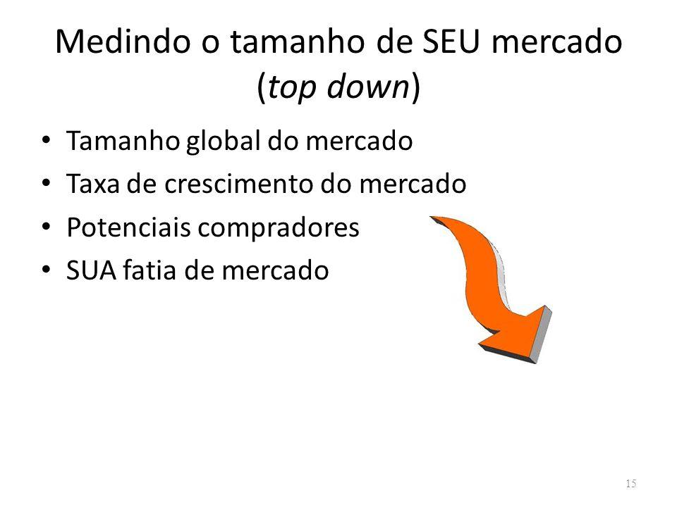 Medindo o tamanho de SEU mercado (top down)