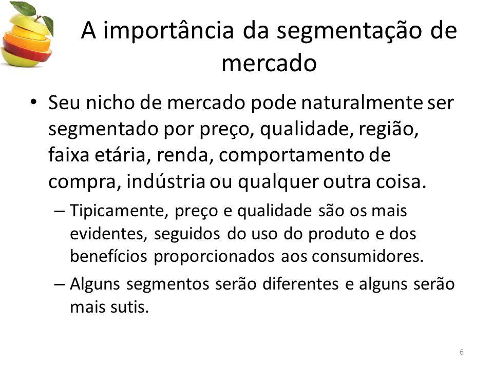 A importância da segmentação de mercado