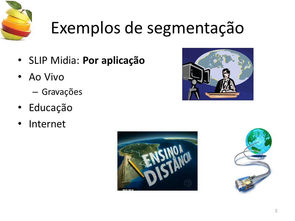 Exemplos de segmentação