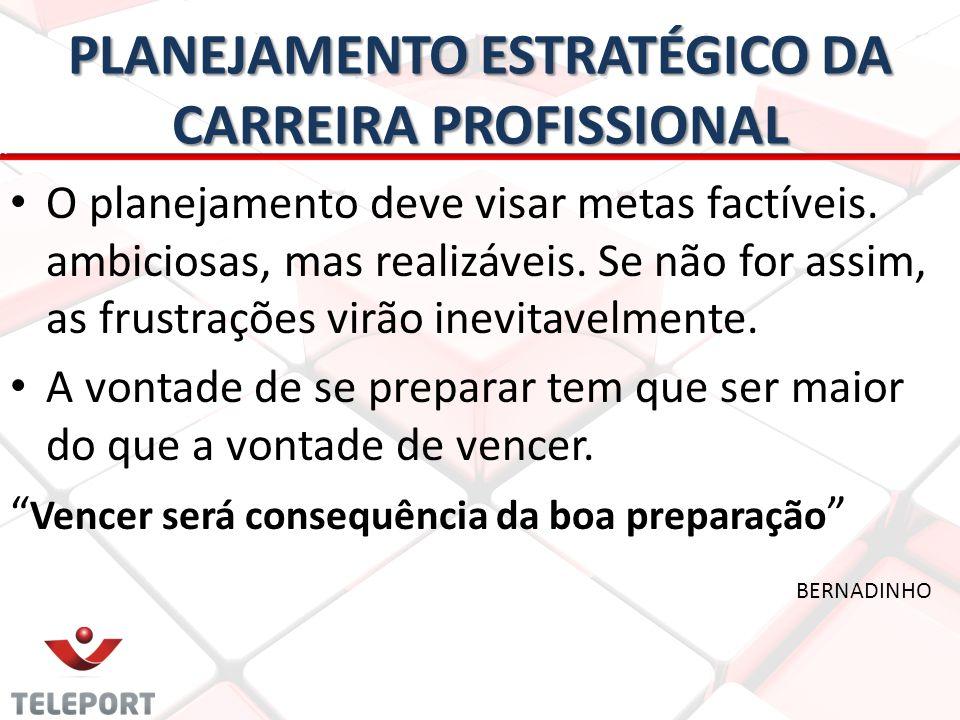 PLANEJAMENTO ESTRATÉGICO DA CARREIRA PROFISSIONAL