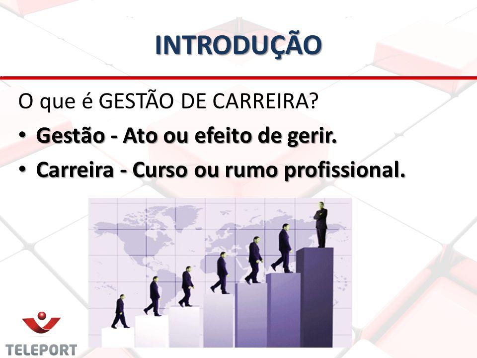 INTRODUÇÃO O que é GESTÃO DE CARREIRA