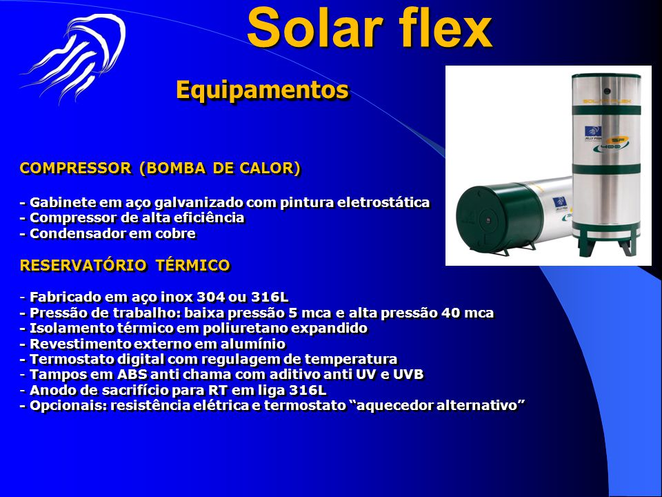 Solar flex Equipamentos COMPRESSOR (BOMBA DE CALOR)