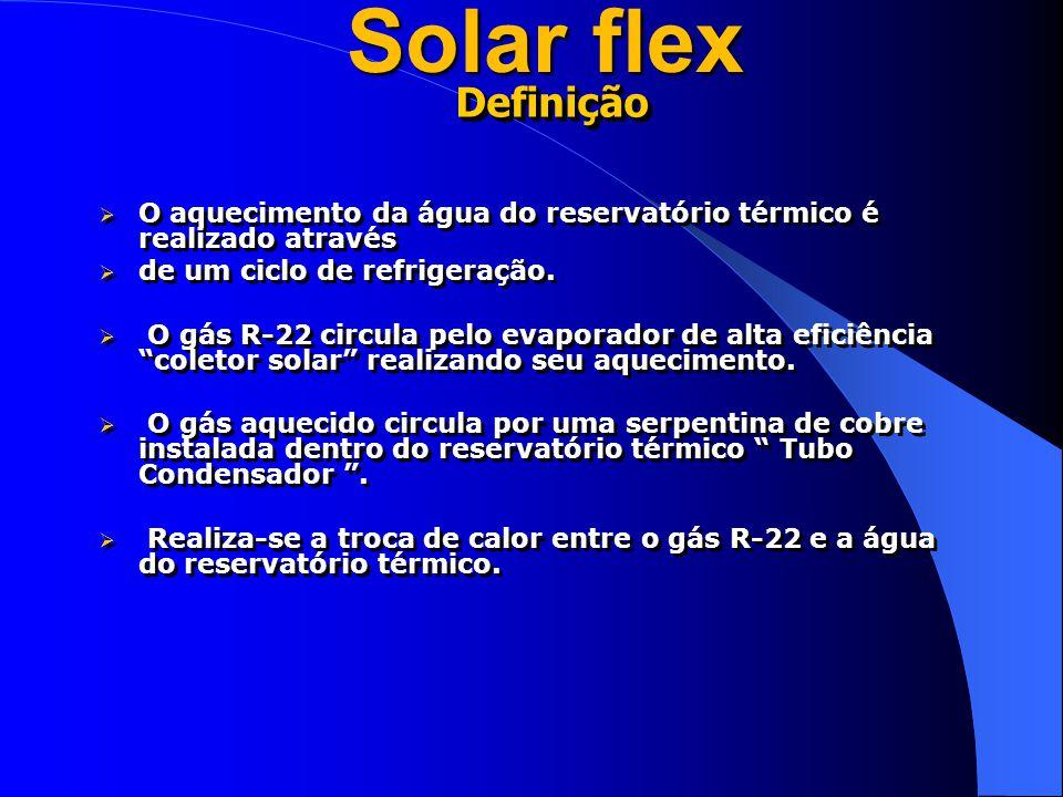 Solar flex Definição. O aquecimento da água do reservatório térmico é realizado através. de um ciclo de refrigeração.