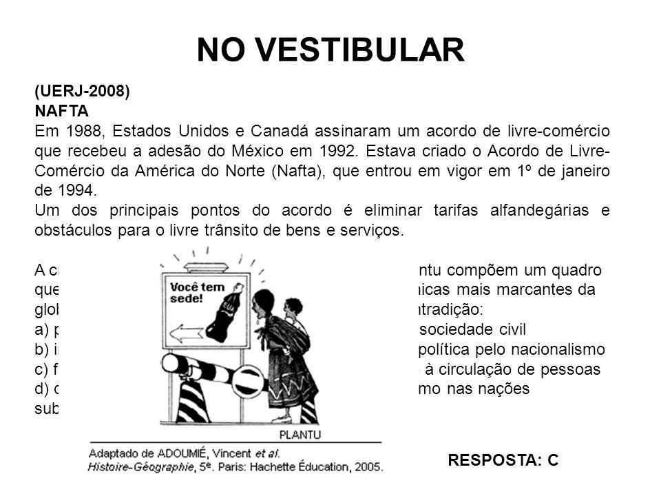 NO VESTIBULAR (UERJ-2008) NAFTA