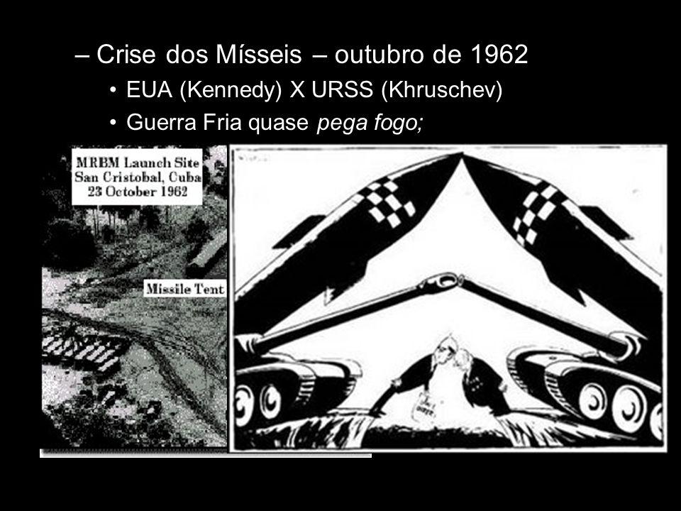 Crise dos Mísseis – outubro de 1962