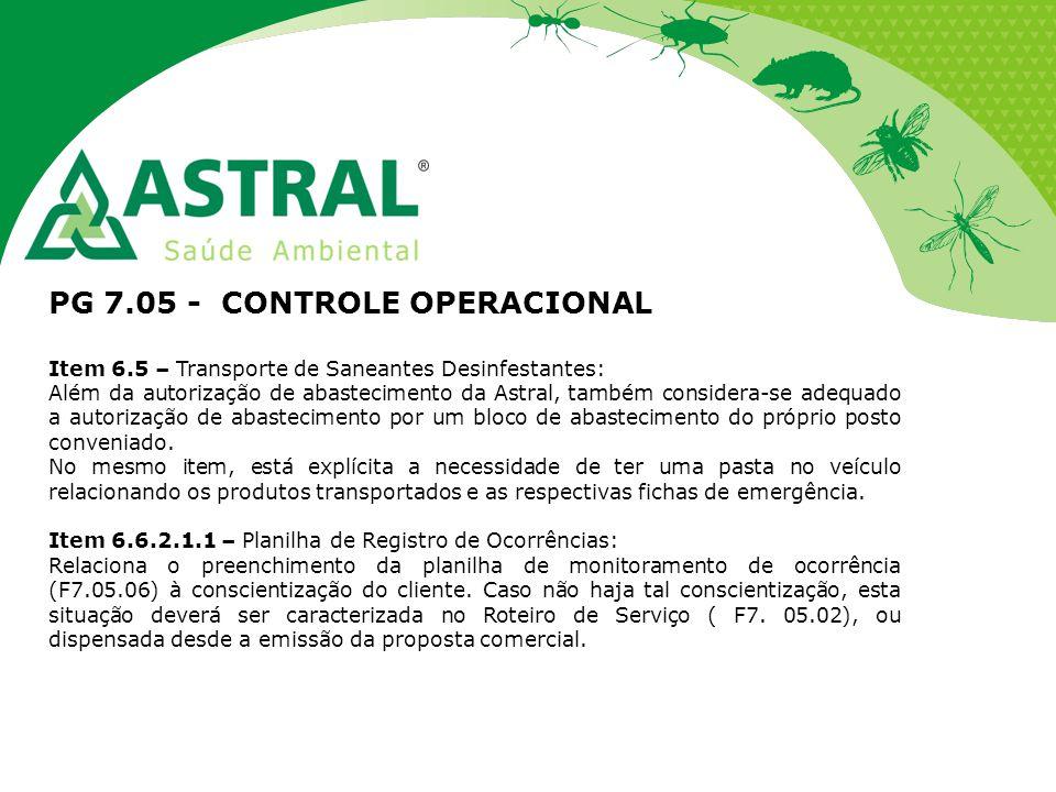 PG 7.05 - CONTROLE OPERACIONAL
