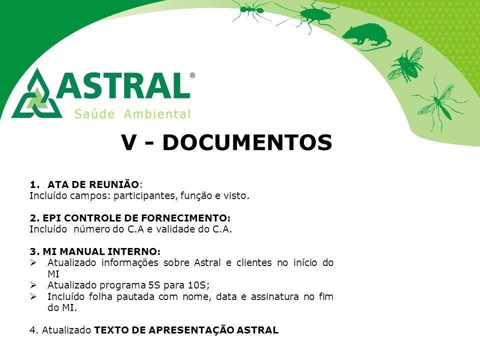 V - DOCUMENTOS ATA DE REUNIÃO: