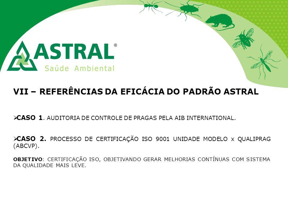 VII – REFERÊNCIAS DA EFICÁCIA DO PADRÃO ASTRAL