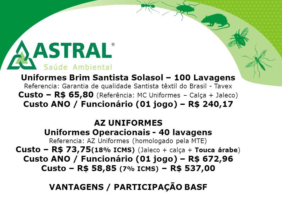 Uniformes Brim Santista Solasol – 100 Lavagens