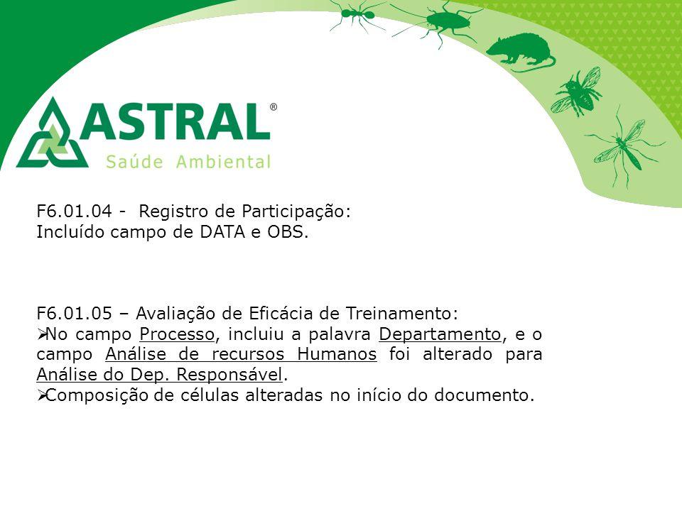 F6.01.04 - Registro de Participação: