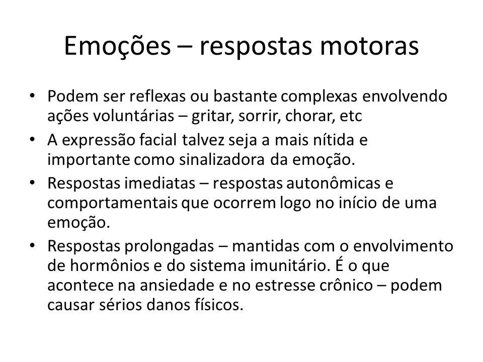 Emoções – respostas motoras