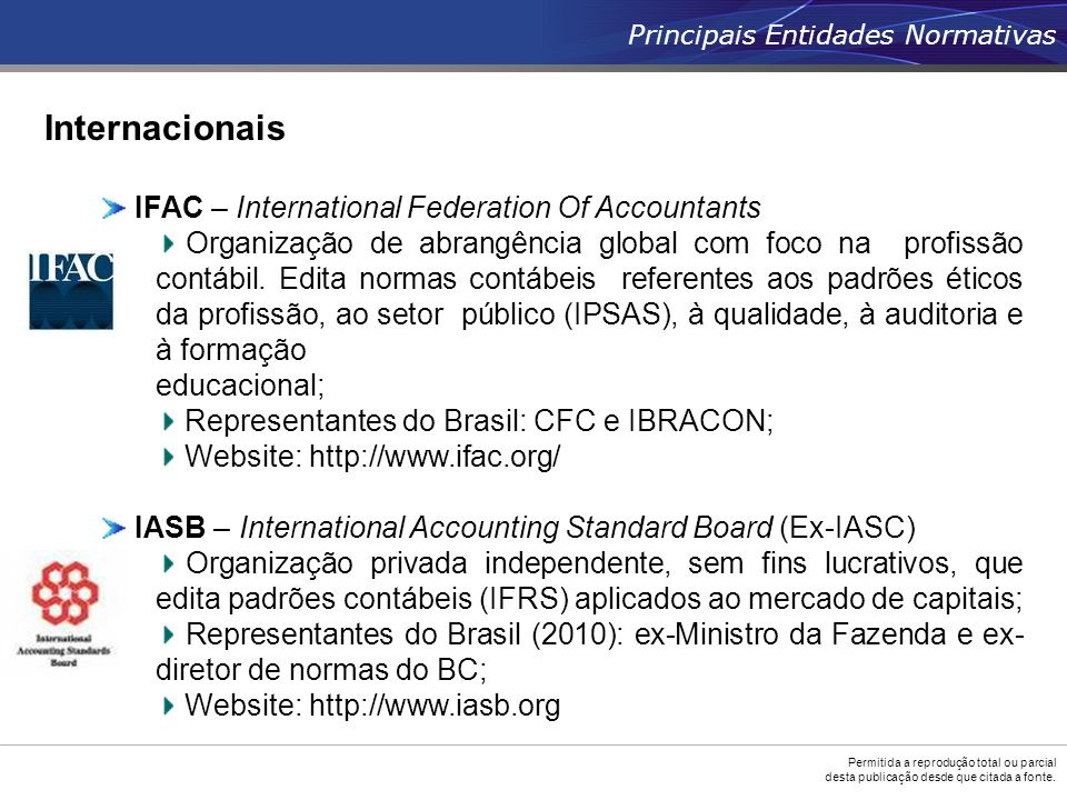 Internacionais IFAC – International Federation Of Accountants