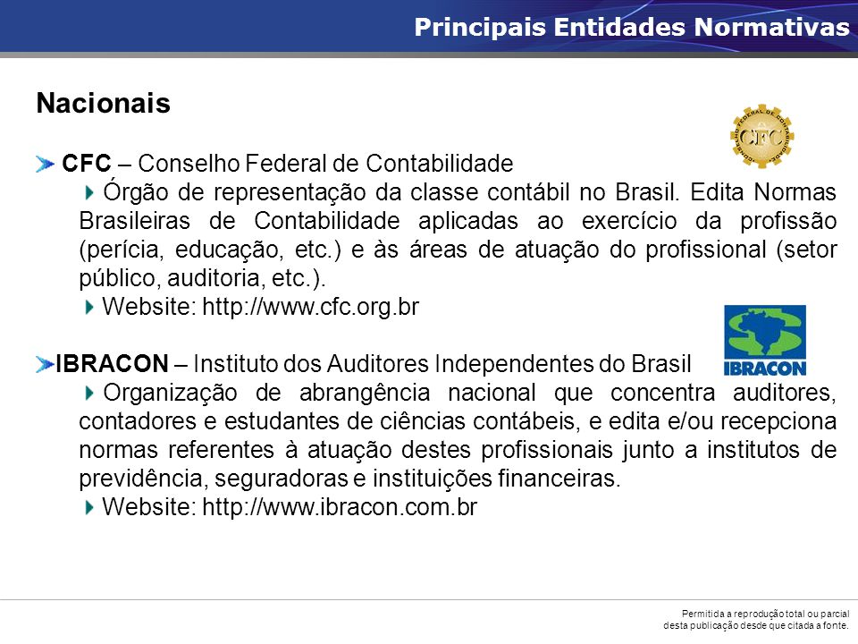 Nacionais Principais Entidades Normativas
