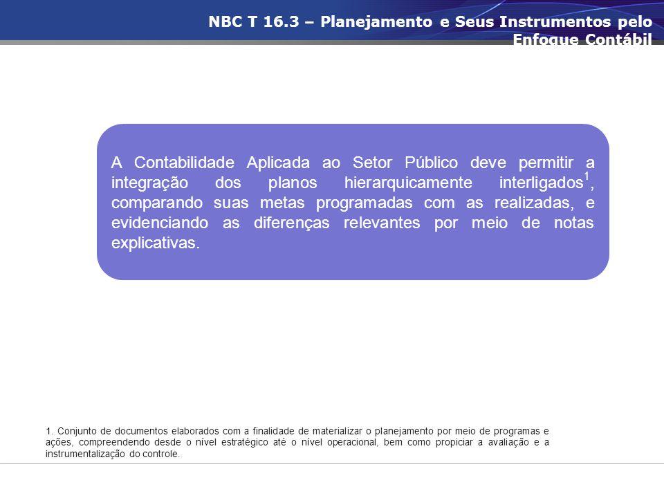 NBC T 16.3 – Planejamento e Seus Instrumentos pelo Enfoque Contábil