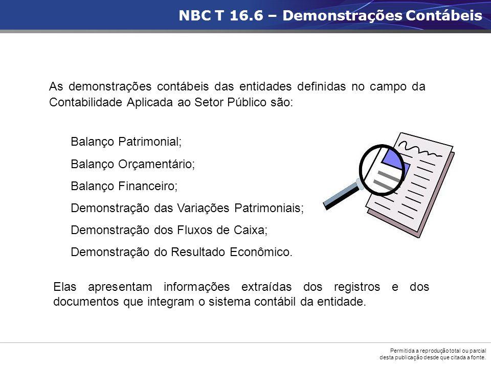 NBC T 16.6 – Demonstrações Contábeis