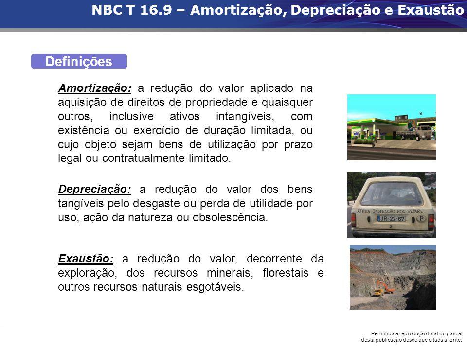 NBC T 16.9 – Amortização, Depreciação e Exaustão