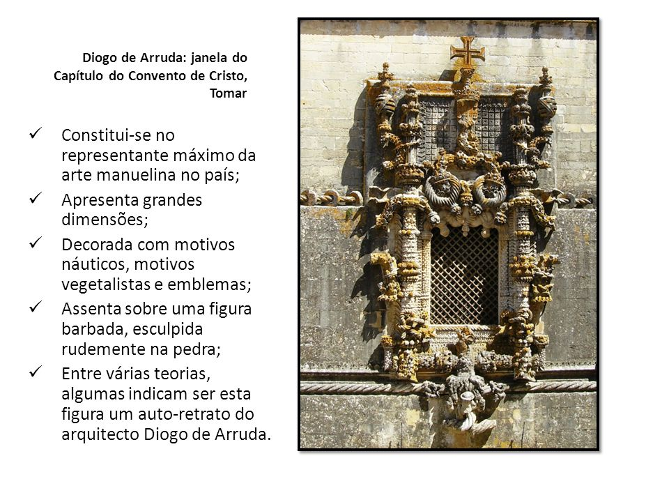 Diogo de Arruda: janela do Capítulo do Convento de Cristo, Tomar