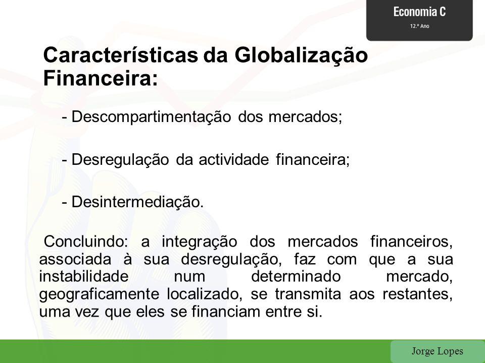 Características da Globalização Financeira: