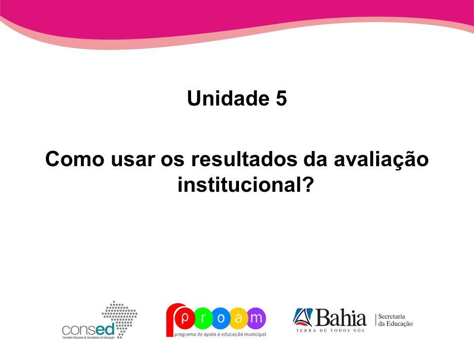 Como usar os resultados da avaliação institucional