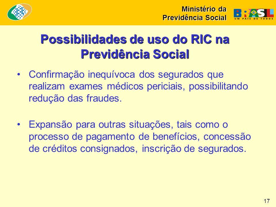 Possibilidades de uso do RIC na Previdência Social