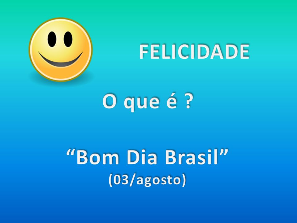 Bom Dia Brasil (03/agosto)