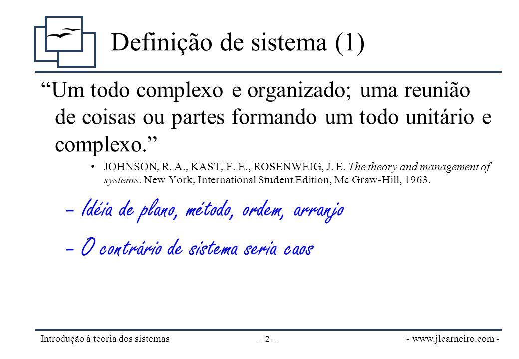 Definição de sistema (2)