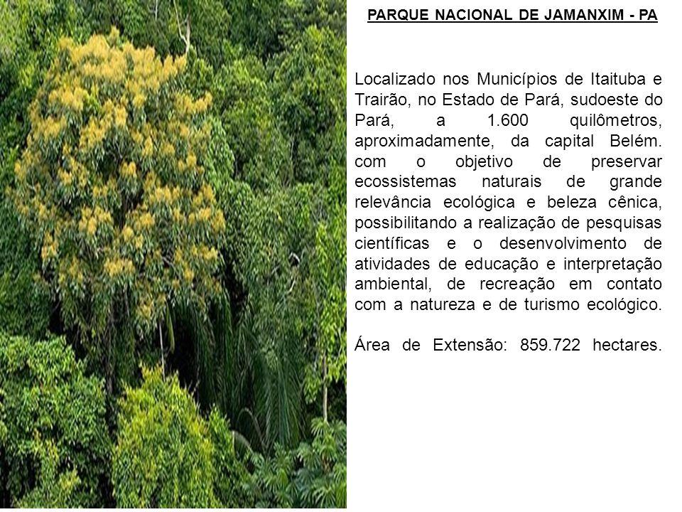 Área de Extensão: 859.722 hectares.