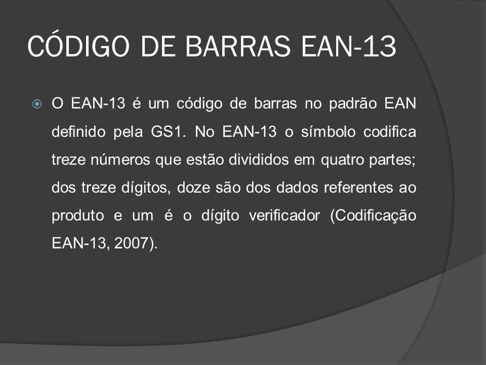 CÓDIGO DE BARRAS EAN-13