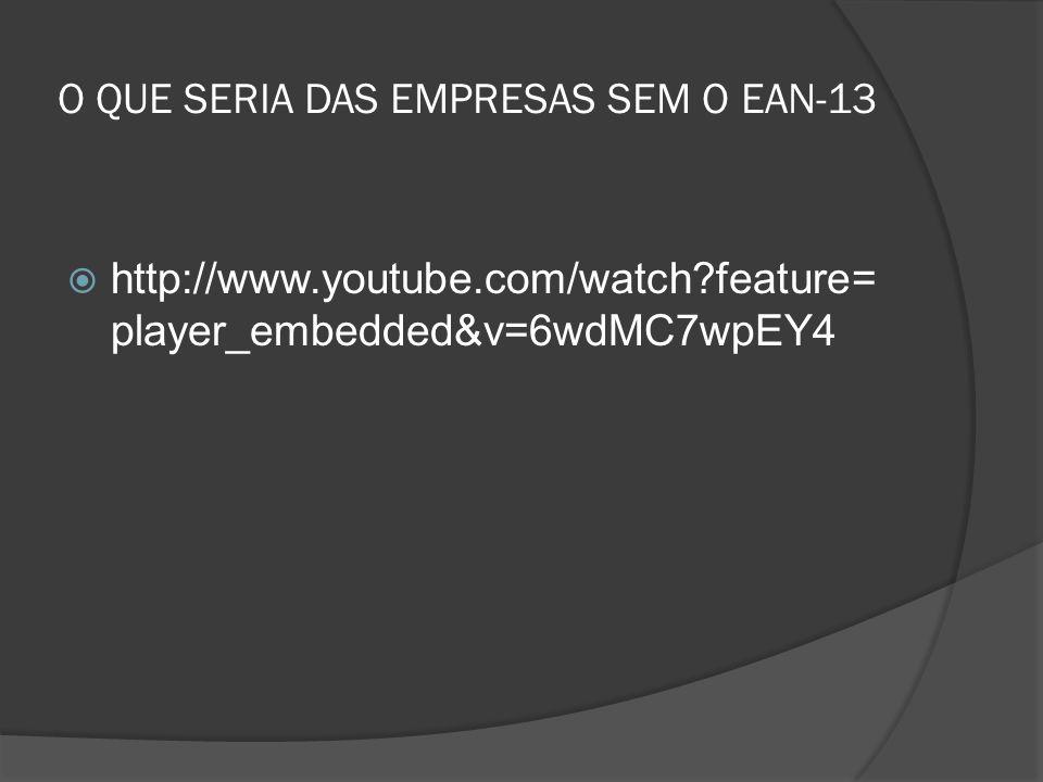O QUE SERIA DAS EMPRESAS SEM O EAN-13